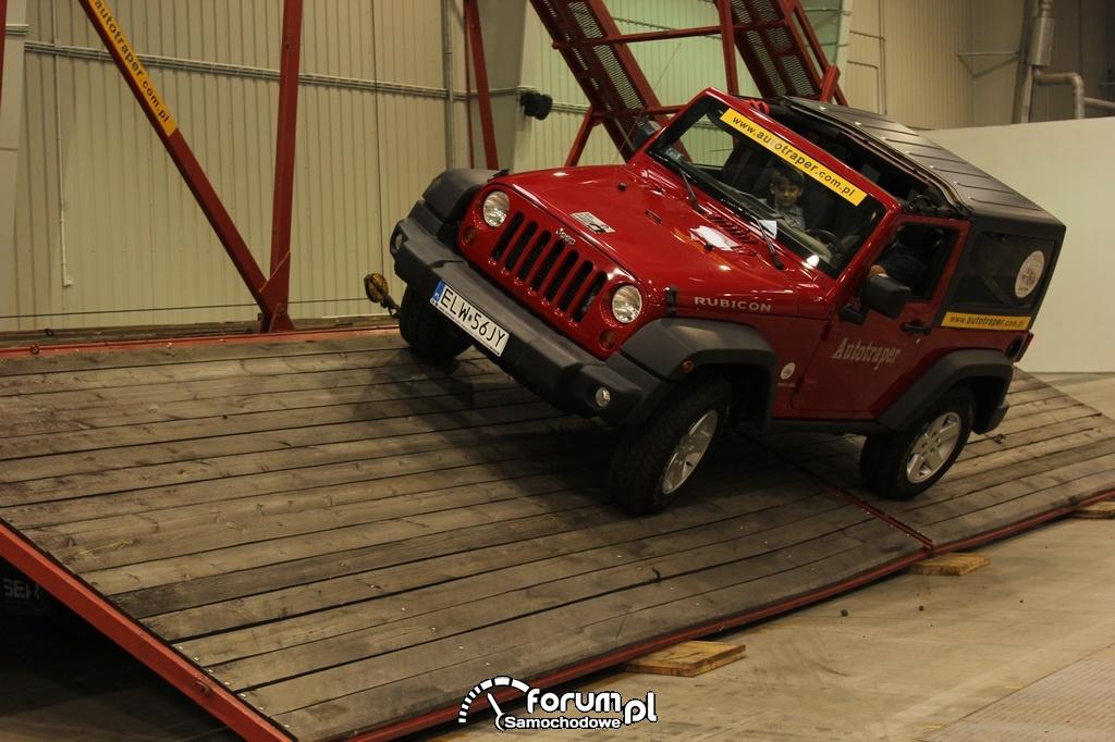 Przechył boczny, Jeep Wrangler