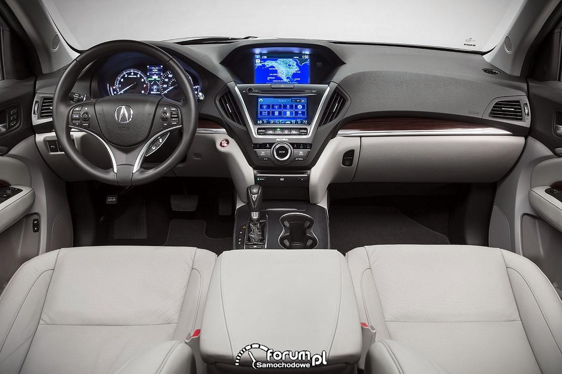 Acura MDX, wnętrze, 2014