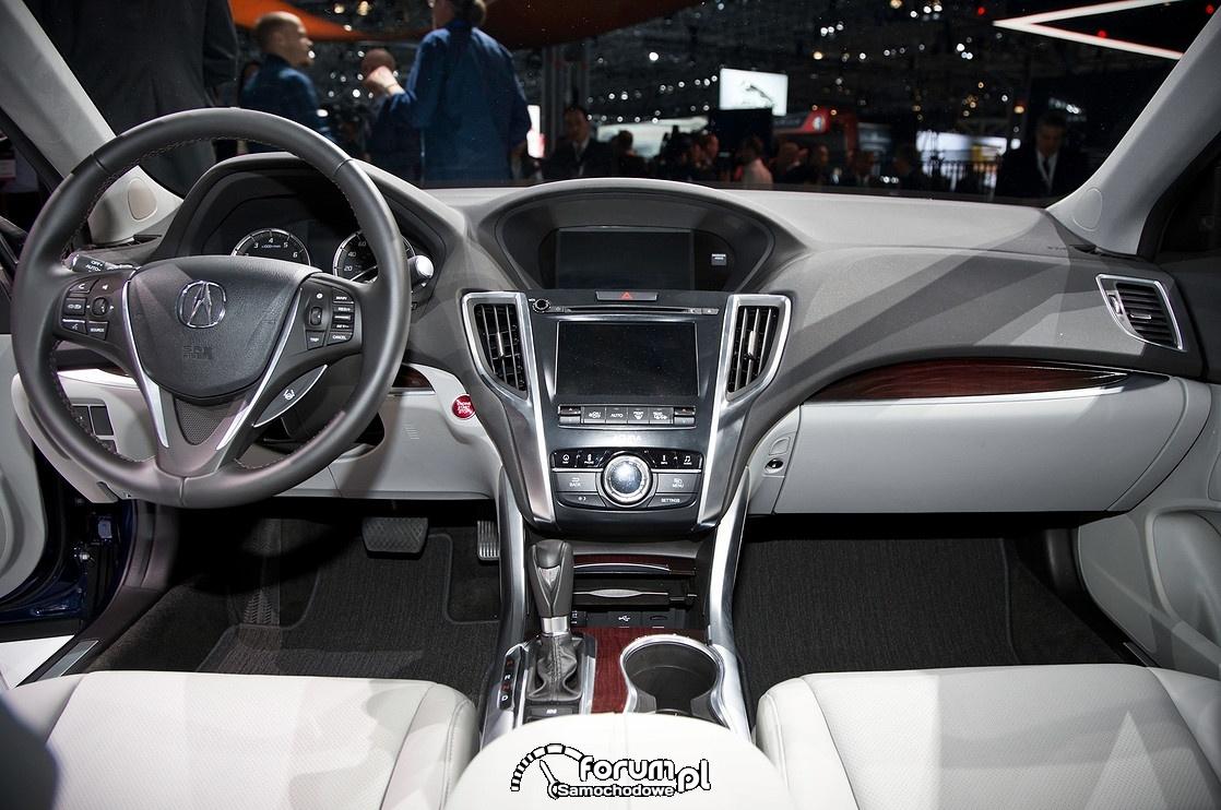 Acura TLX V6, wnętrze, 2015