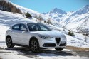 Alfa Romeo Stelvio, góry, zima