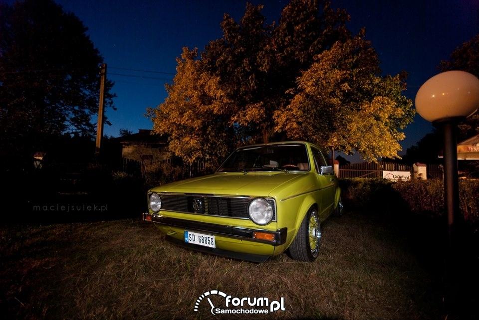 VW Golf I, zielony, Tuning, ASTW