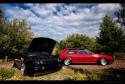VW Golf III czarny, VW Golf II czerwony, Tuning, ASTW