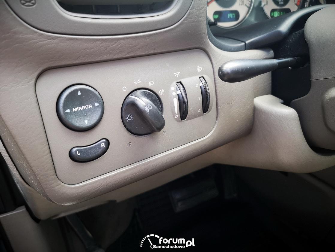 Chrysler Grand Voyager 3.3 LIMITED, panel sterowania światłami