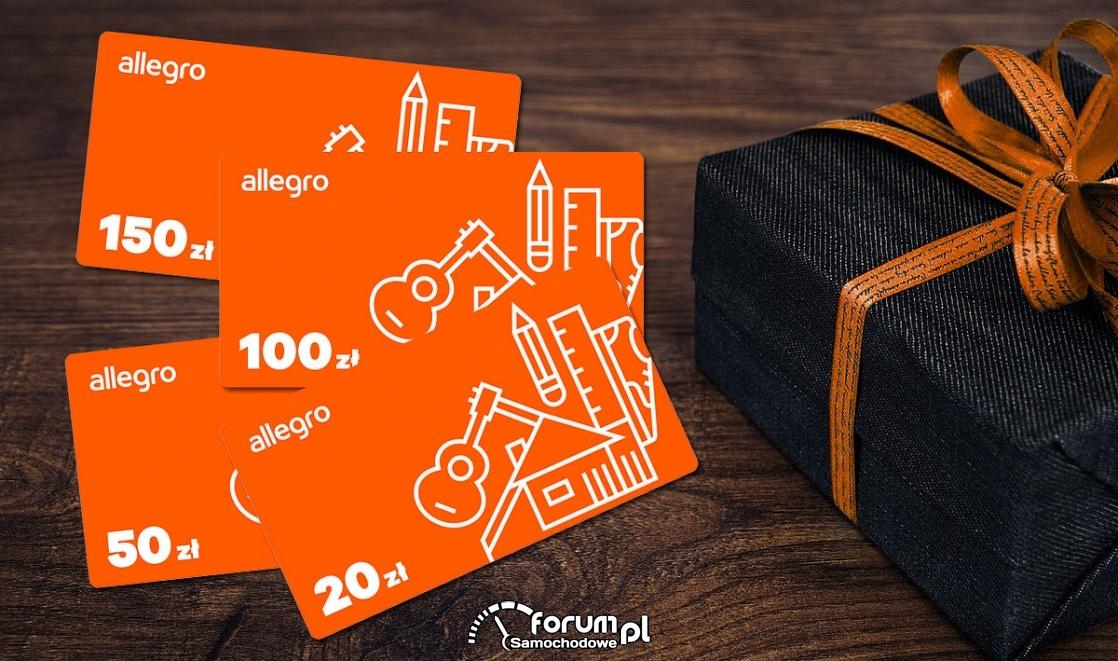 Konkurs, karty podarunkowe - Allegro