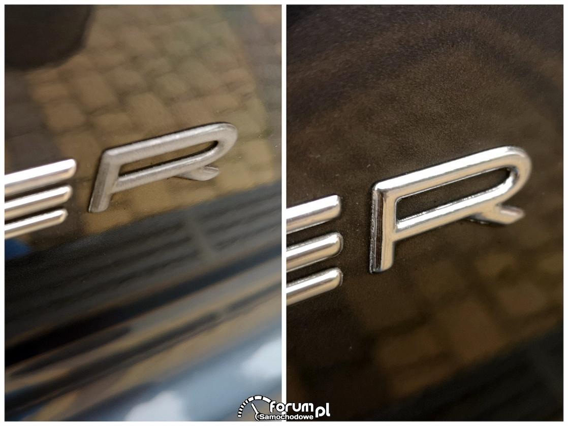 Liquid chrome na emblematach w samochodzie - szybka renowacja