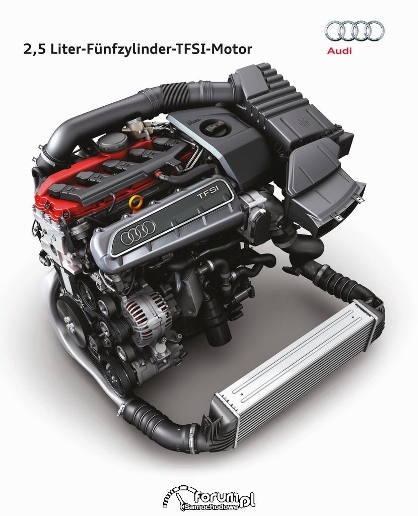 2,5-litrowy silnik TFSI moc 265 kW (360 KM) 465 Nm