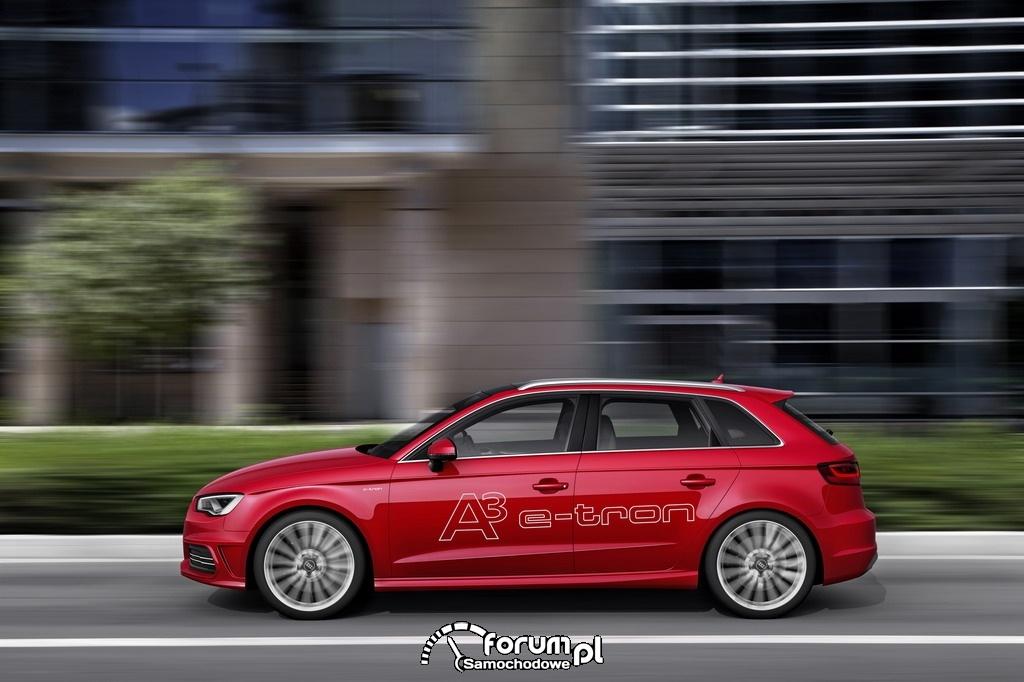 Audi A3 e-tron, bok