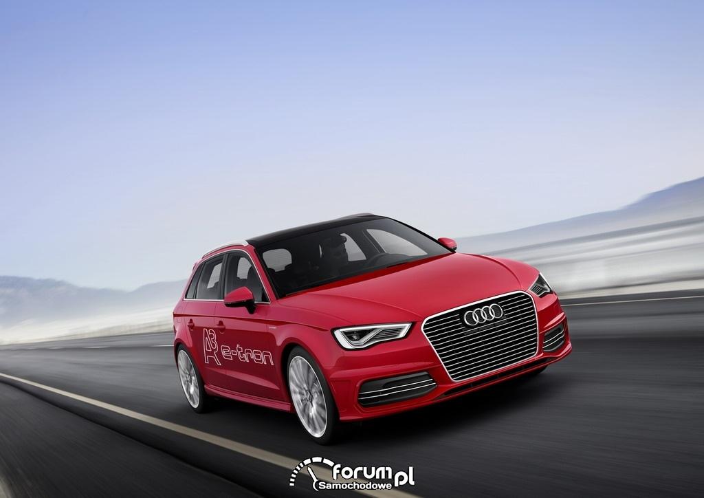 Audi A3 e-tron, przód