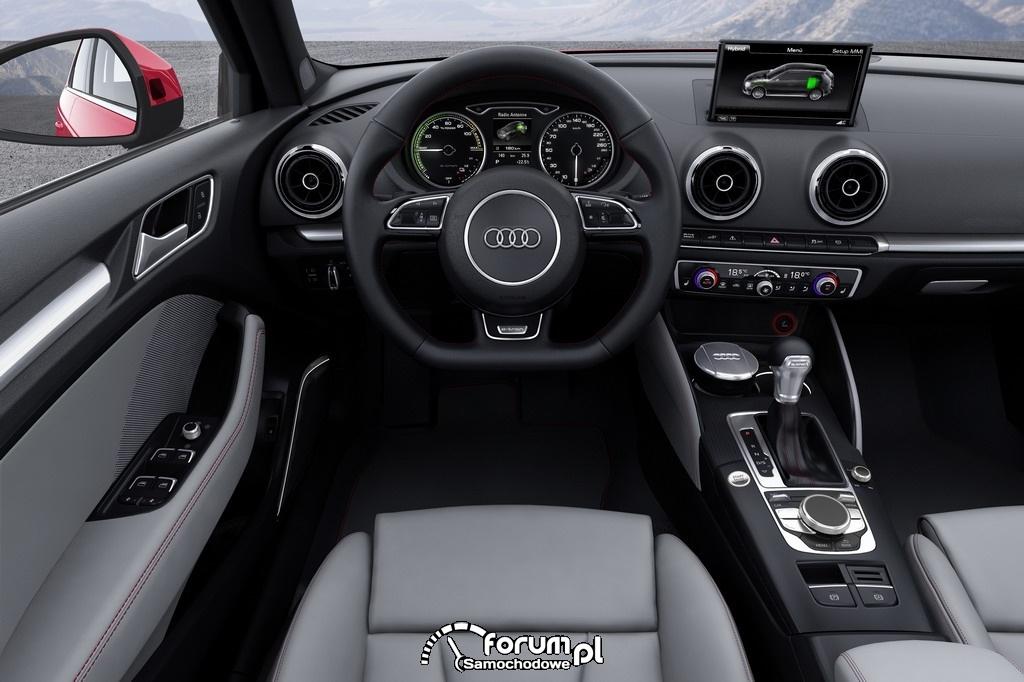 Audi A3 e-tron, wnętrze, deska rozdizelcza