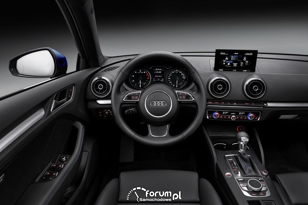 Audi A3 Sportback g-tron, CNG, wnętrze
