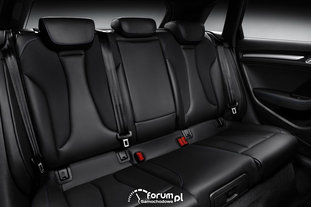 Audi A3 Sportback g-tron, tylne siedzenia