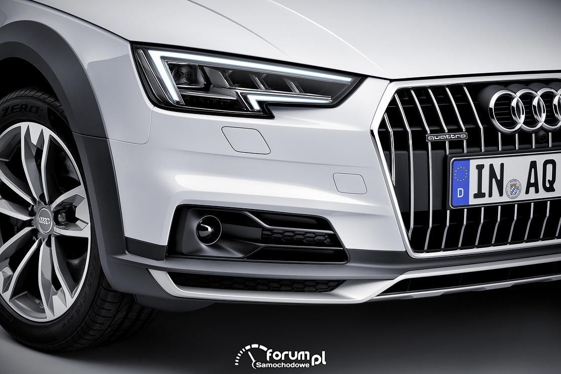 Audi A4 allroad quattro, przednie światła LED