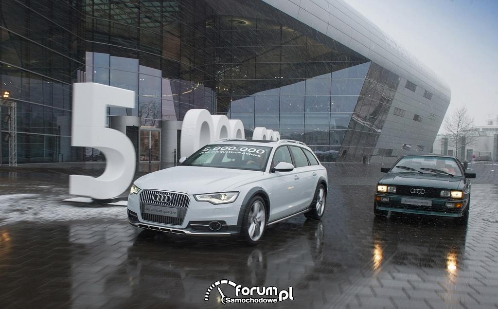 Pięć milionów Audi ze stałym napędem na cztery koła: quattro
