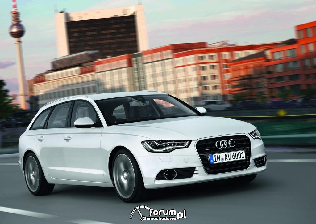 Audi A6 kombi, przednie światła LED