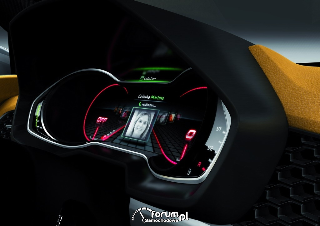 Audi crosslane coupe, elektroniczny licznik