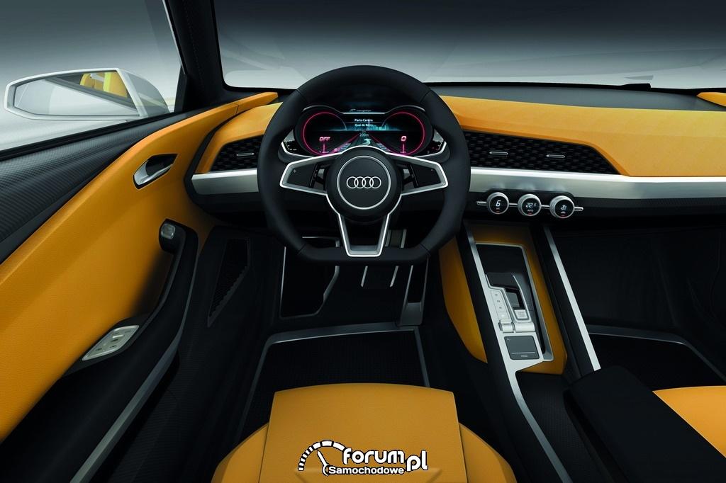 Audi crosslane coupe, kokpit, deska rodzielcza
