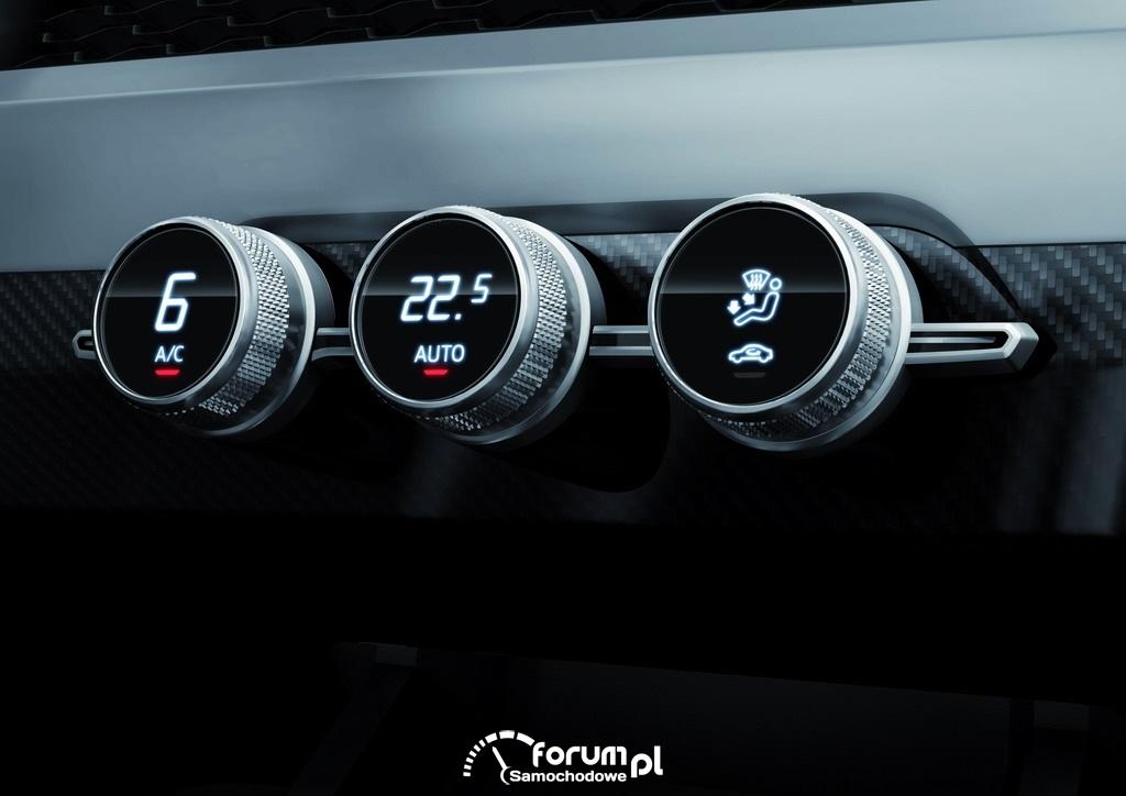 Audi crosslane coupe, panel sterowania klimatyzacji