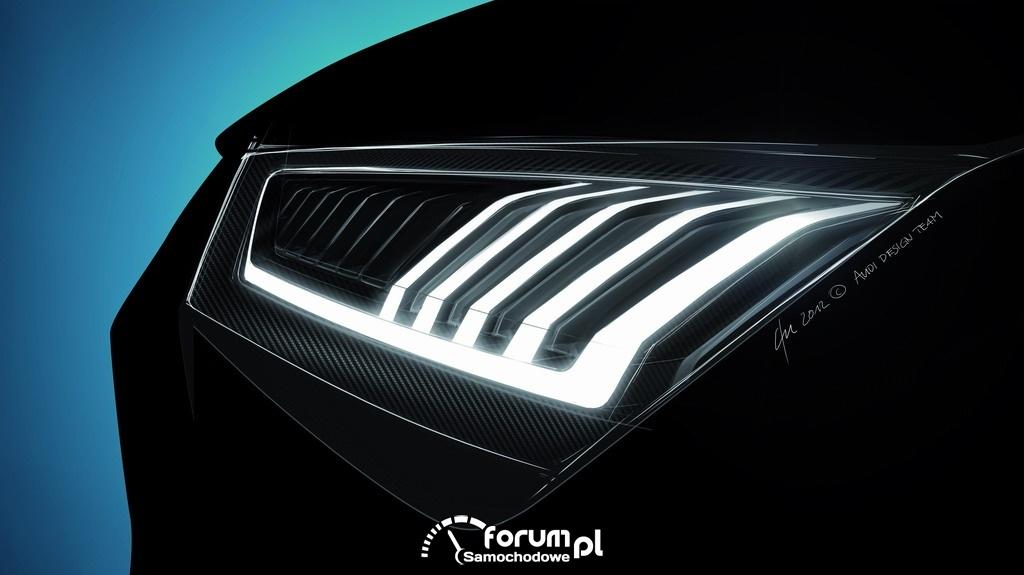 Audi crosslane coupe, przednie światło LED