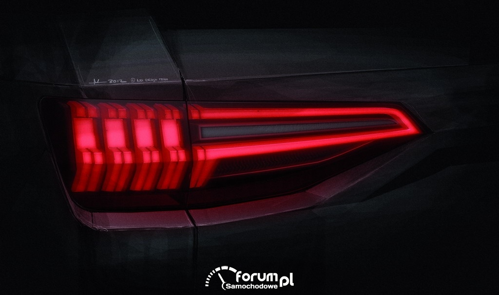 Audi crosslane coupe, tylne światło LED