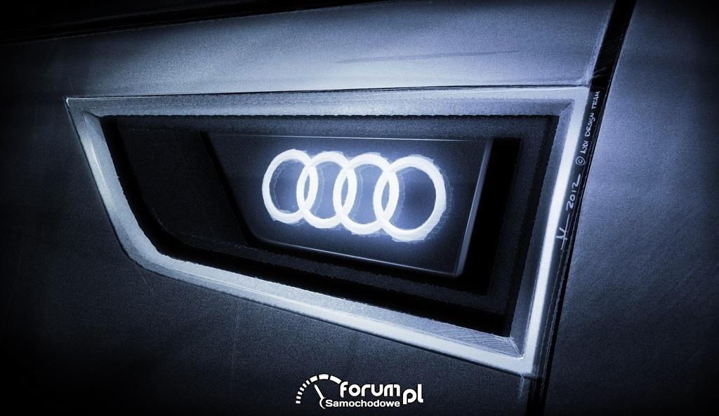 Audi crosslane coupe, znaczek na przednim błotniku