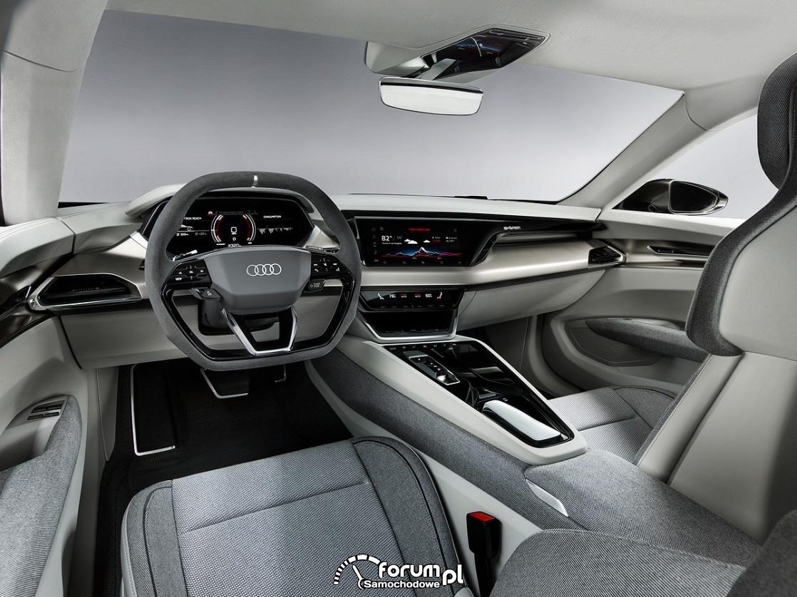 Audi e-tron GT concept, wnętrze