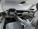 Audi e-tron GT concept- wnętrze zrównoważone i bardzo współczesne