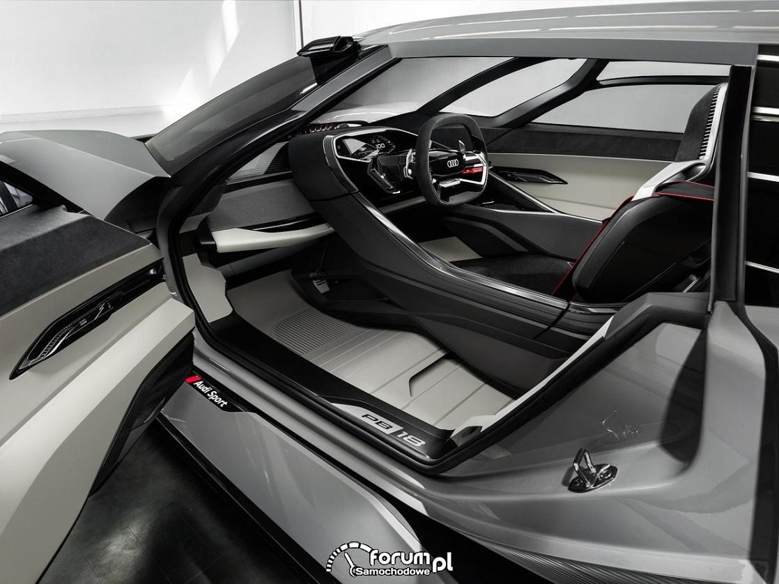 Audi PB18 e-tron, środkowa pozycja kierowcy