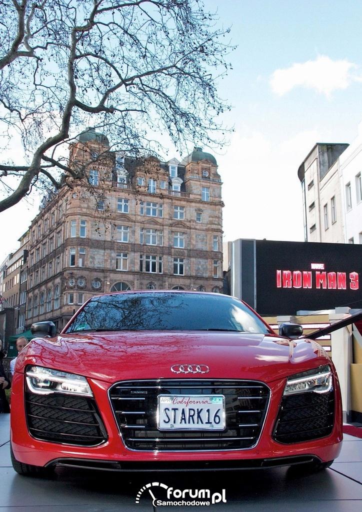 Audi R8 e-tron, Iron Man 3
