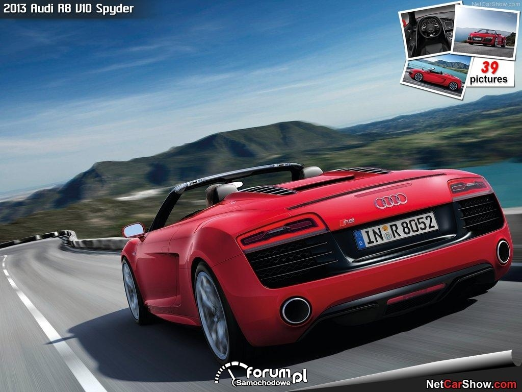 Audi R8 V10 Spyder, tył