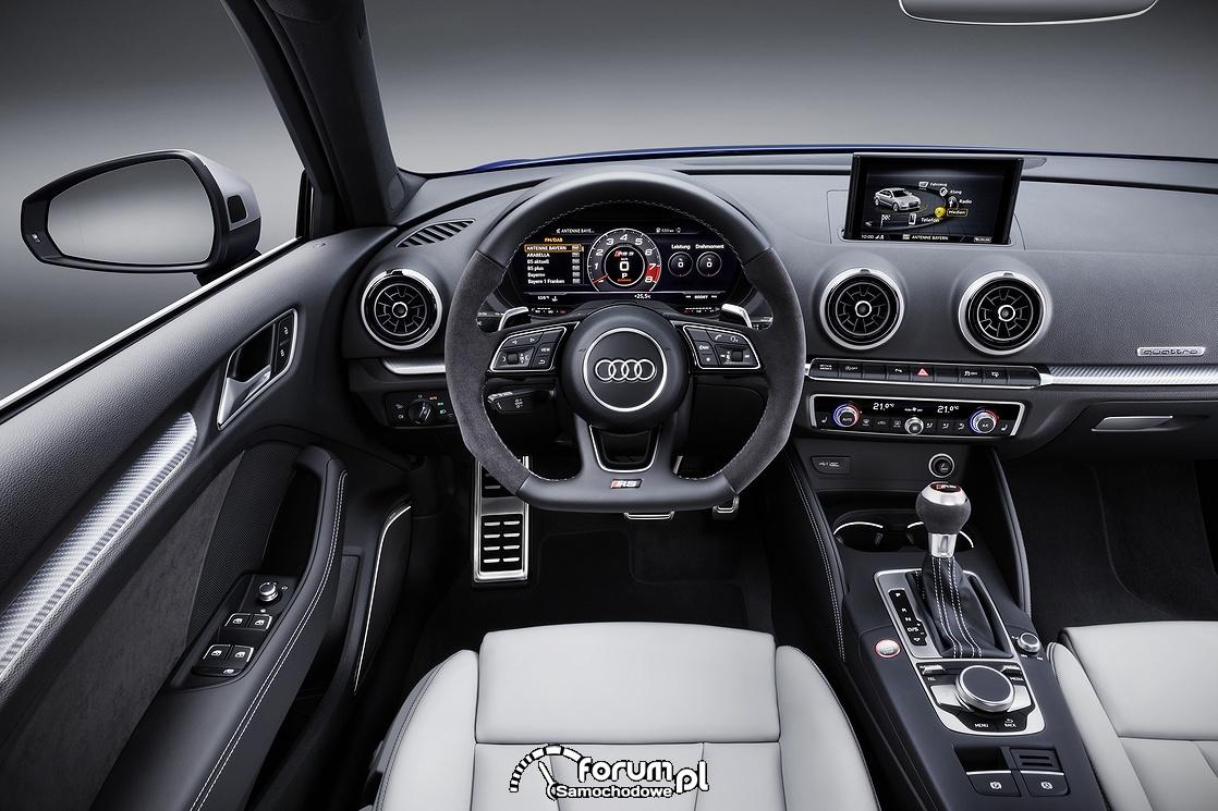 Audi RS 3 Sportback, deska rozdzielcza, zegary