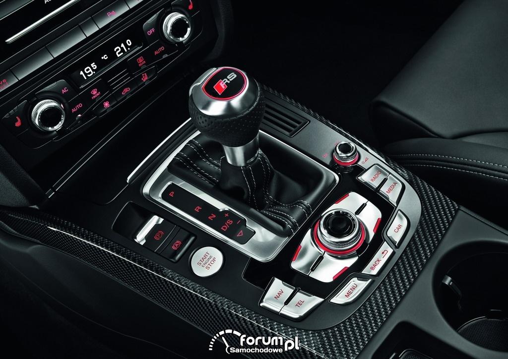 Audi RS 4 Avant - drążek zmiany biegów
