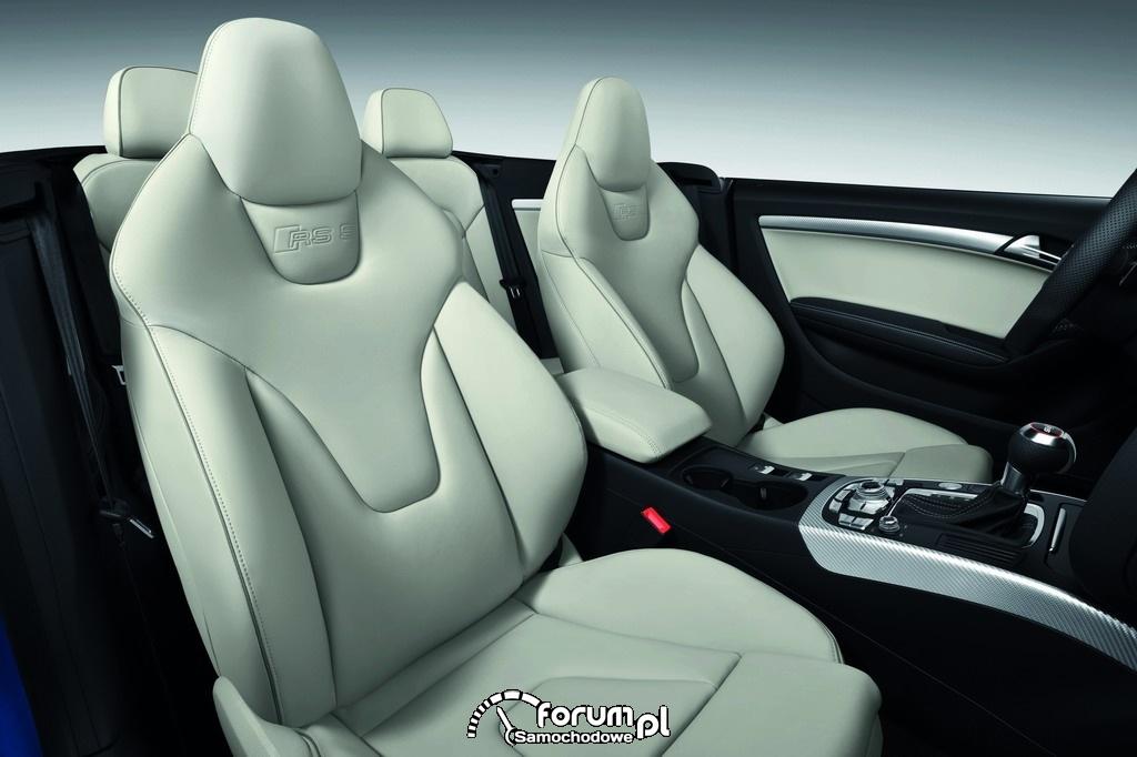 Audi RS 5 Cabriolet, przednie fotele, wnętrze