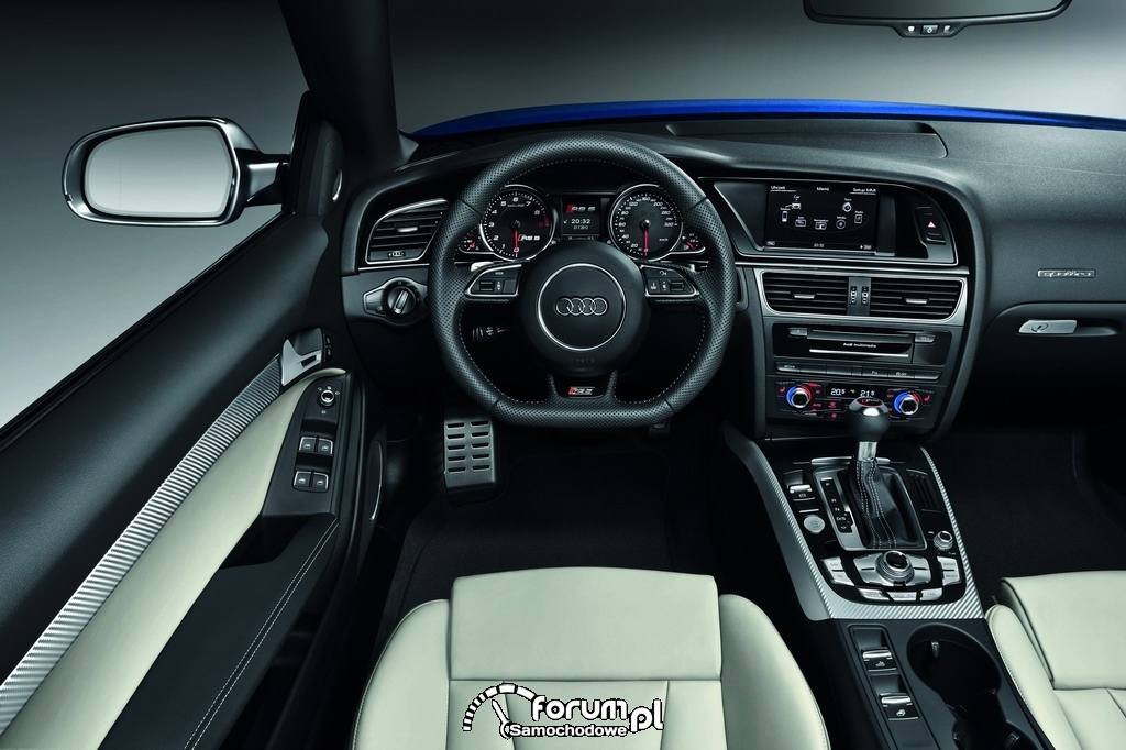Audi RS 5 Cabriolet, wnętrze, deska rozdzielcza