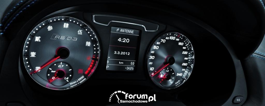 Audi RS Q3 concept, zegary