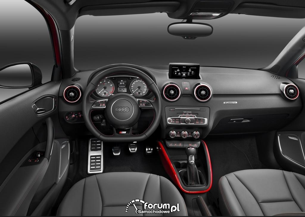 Audi S1, wnętrze, deska rozdzielcza