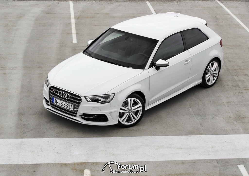 Audi S3, biały kolor
