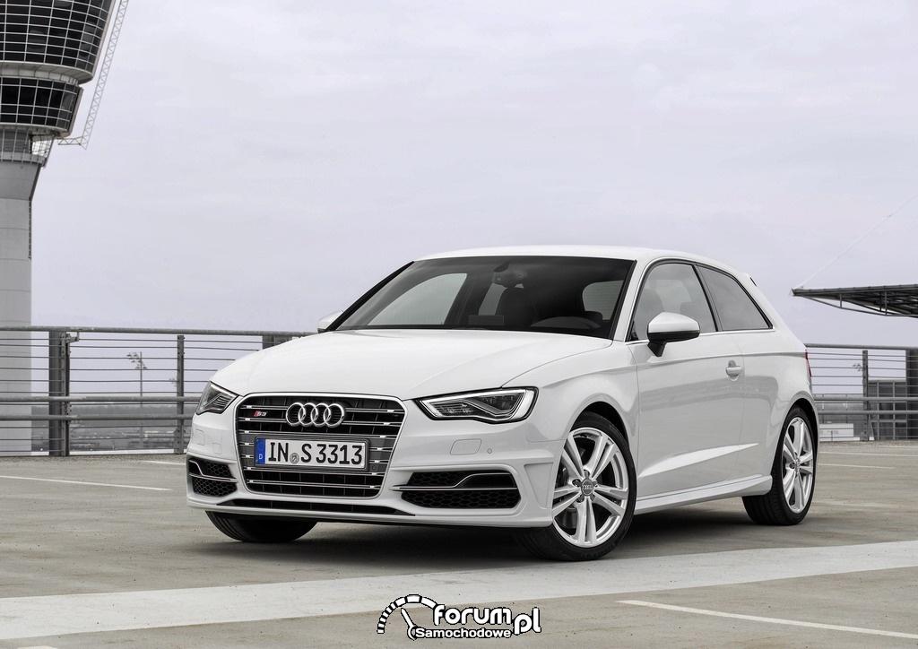 Audi S3, przód, kolor biały