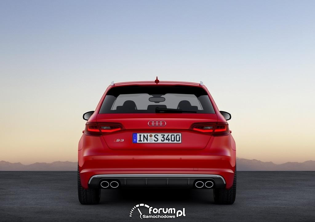 Audi S3 Sportback 2.0 TFSI o mocy 300KM, tył