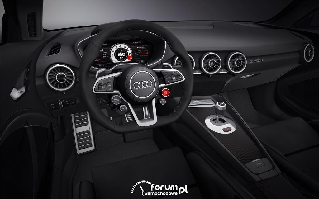 Audi TT quattro sport concept, wnętrze