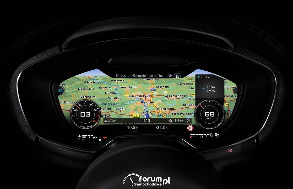 Audi virtual cockpit, licznik z nawigacją