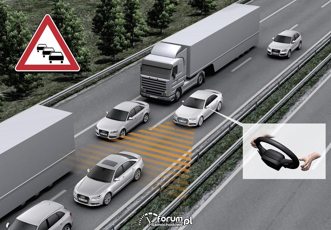 Funkcja automatycznej jazdy w korkach Audi AI