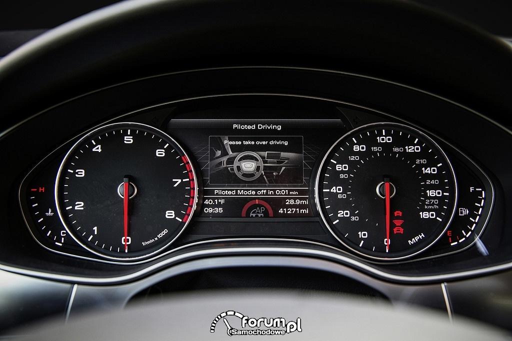 Autopilot, licznik, Audi A7 piloted driving concept