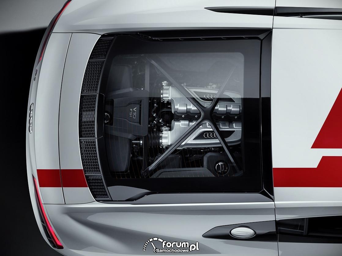 Centralnie umieszczony z tyłu silnik, Audi R8 V10 RWS