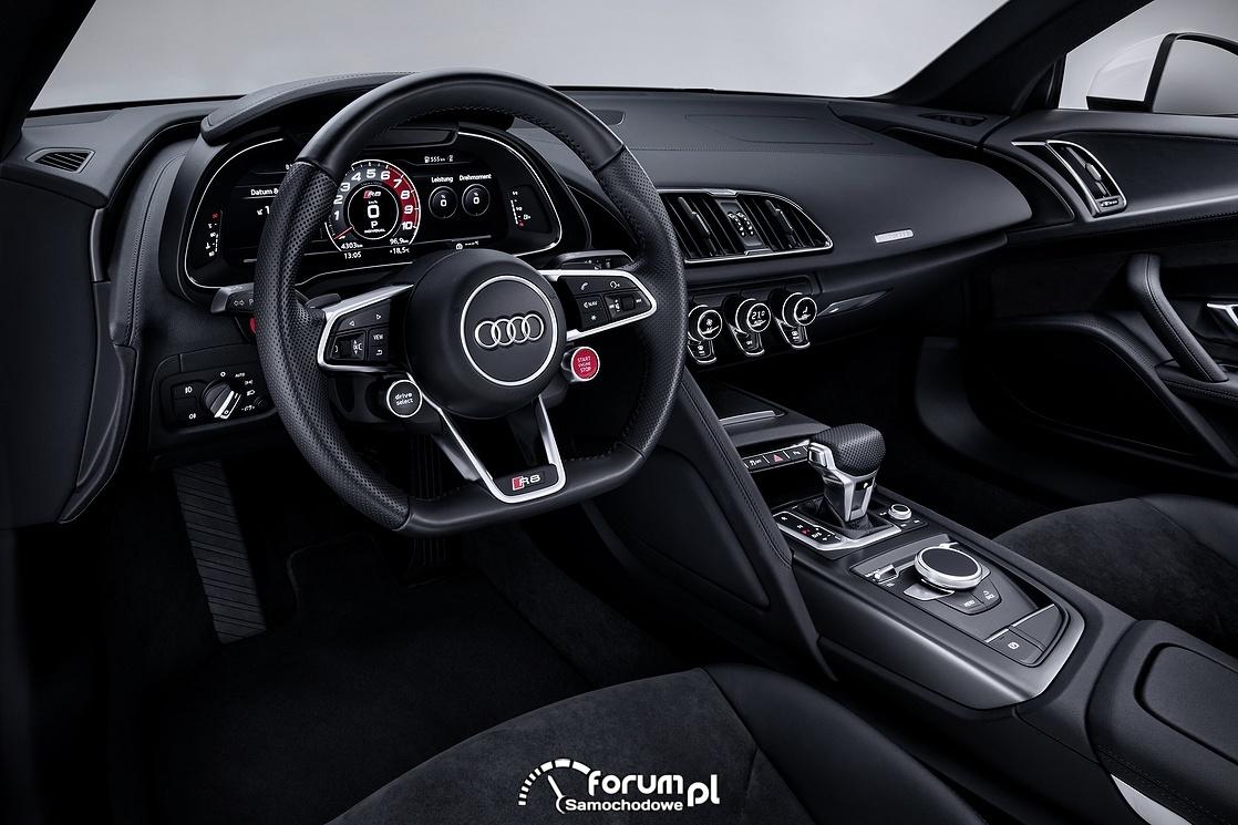 Deska rozdzielcza, kokpit, Audi R8 V10 RWS