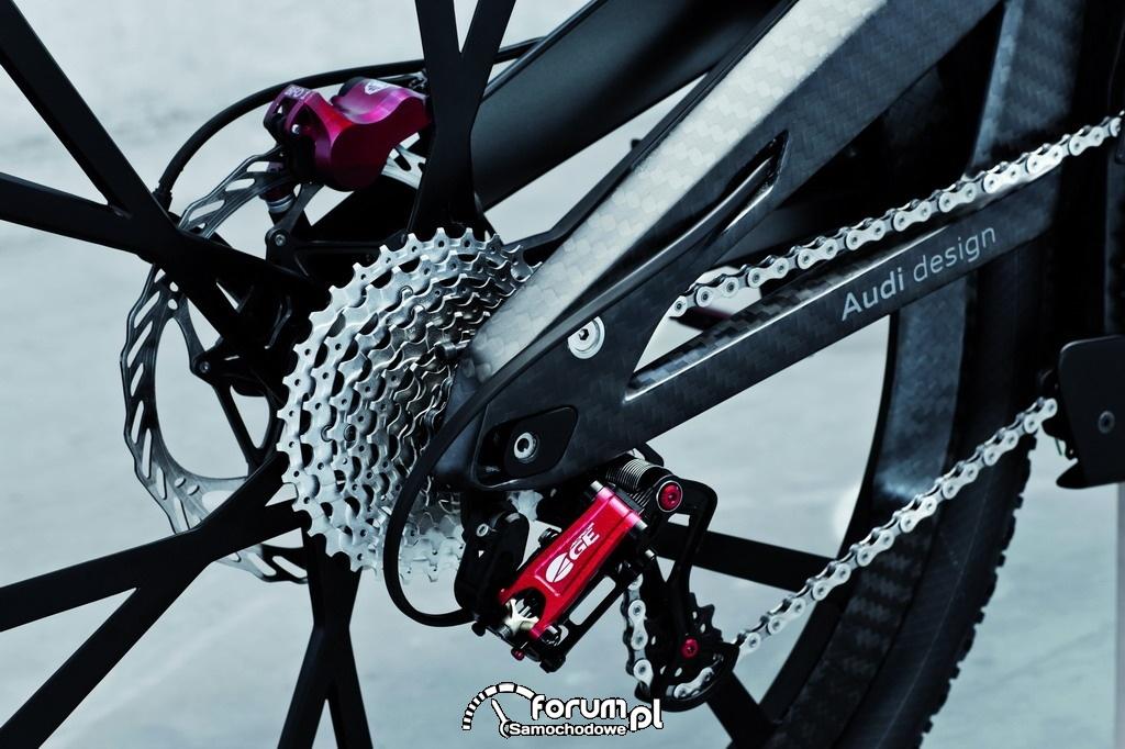 Elektryczny rower sportowy Audi e-bike Wörthersee, przerzutki
