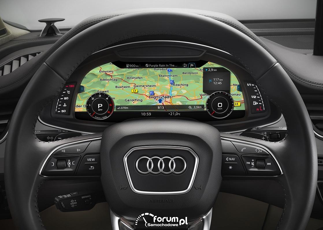 Mapa nawigacyjna wysokiej rozdzielczości w Audi