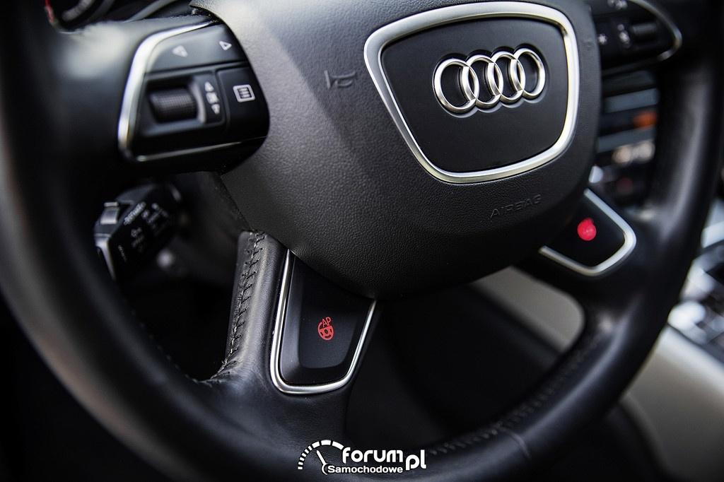 Przyciski autopilota na kierownicy, Audi A7 piloted driving concept