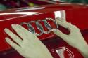 Znaczek, logo Audi przyklejane na tylną klapę