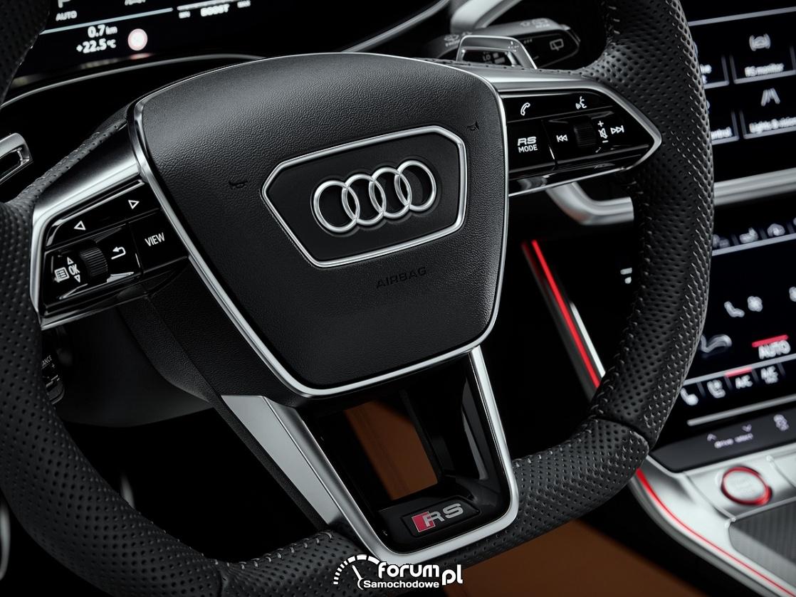 Audi RS 6 Avant, multifunkcyjna kierownica