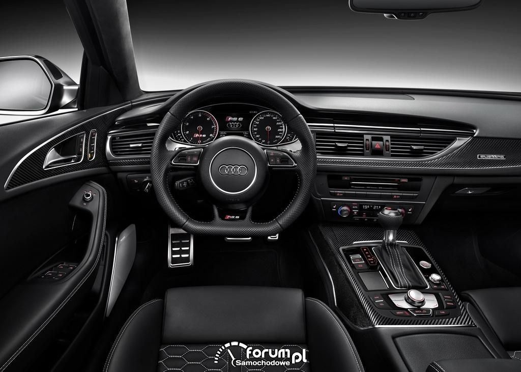 Audi RS 6 Avant quattro, deska rozdzielcza, 2013